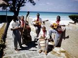 December 1946: Band at the Kastillito Club in Veradero Beach Hotel  Cuba