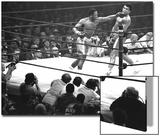 Joe Frazier Vs. Mohammed Ali at Madison Square Garden Acrylique par John Shearer