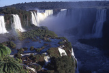 Iquassu (Iguacu) Falls on Brazil-Argentina Border  Once known as Santa Maria Falls