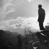 American Soldier Stands on the Hood of a Vehicle on the Ledo Road  Burma  July 1944