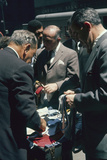 Men Sort Through Neckties in a Vendor's Trunk in the Garment District  New York  New York  1960