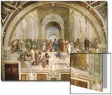 School of Athens, circa 1510-1512, One of the Murals Raphael Painted for Pope Julius II Acrylique par Raphael