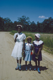 Three Young Girls in Collared Dresses  Edisto Island  South Carolina  1956