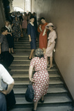 Dior Models in Stairwell for an Officially-Sanctioned Fashion Show  Moscow  Russia  1959