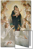 The Virgin with Angels, 1900 Acrylique par William Adolphe Bouguereau