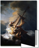 Christ in the Storm on the Lake of Galilee, 1633 Acrylique par Rembrandt Van Rijn