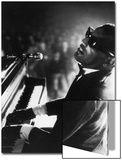 Ray Charles Playing Piano in Concert Acrylique par Bill Ray