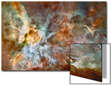 Star Birth and Star Death Create Cosmic Havoc in a Panorama of the Carina Nebula Acrylique par NASA