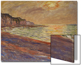 Beach at Pourville, Sunset, 1882 Acrylique par Claude Monet