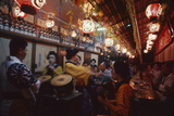 Musicians and Dancers Perform at the Miyoshi Folk Song Sake Parlor  Tokyo  Japan  1962