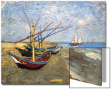 Fishing Boats on the Beach at Saintes-Maries-De-La-Mer