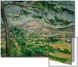 La Montagne Sainte-Victoire au grand pin, 1887 Acrylique par Paul Cézanne