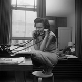 Eileen Ford  Co-Founder of the Ford Modeling Agency Taking Many Phone Calls  1948