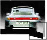 1993 Porsche 911 Rear Watercolor