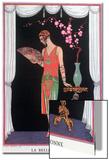 Worth Evening Dress, Fashion Plate from Gazette Du Bon Ton, 1925 Acrylique par Georges Barbier