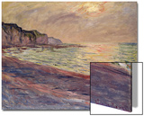 The Beach at Pourville  Setting Sun  1882