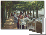 The Terrace at the Restaurant Jacob in Nienstedten on the Elbe River  1902