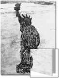 Soldiers Posing as the Statue of Liberty