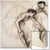 Two Dancers Resting Acrylique par Edgar Degas