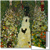 Garden with Chickens  1916
