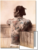 Japanese Tattooed Man  c1880
