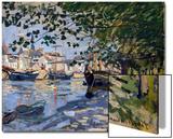 Seine at Rouen, 1872 Acrylique par Claude Monet