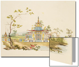Design for a Chinese Temple  C1810 (Pen and Ink and W/C on Paper)