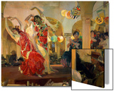 Women Dancing Flamenco at the Cafe Novedades in Seville  1914