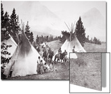 Native American Teepee Camp  Montana  C1900 (B/W Photo)