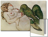 Nude with Green Stockings  1918
