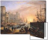 Sea Port at Sunset  1639