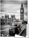 London Taxi and Big Ben - London - UK - England - United Kingdom - Europe Acrylique par Philippe Hugonnard