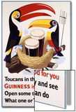 Toucans in their Nests Agree Guinness Is Good for You  1957 (Lithograph in Colours)