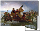 Washington Crossing the Delaware River  25th December 1776  1851 (Copy of an Original Painted in