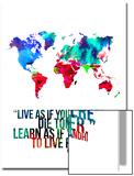 World Map Quote Mahatma Gandi