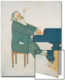 Johannes Brahms at the Piano