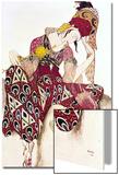 """Costume Design for Nijinsky in the Ballet """"La Peri"""" by Paul Dukas 1911 Acrylique par Leon Bakst"""