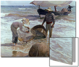 Fishermen From Valencia  1895  Spanish School