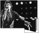 Rolling Stones Lead Singer Mick Jagger Performing at the Live Aid Concert Acrylique