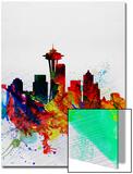 Seattle Watercolor Skyline 2