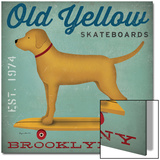 Golden Dog on Skateboard