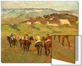 Jockeys on Horseback before Distant Hills  1884