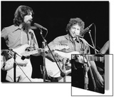 George Harrison and Bob Dylan during the Concert for Bangladesh at Madison Square Garden