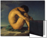 Naked Young Man Sitting by the Sea  1855