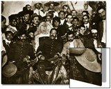 Pancho Villa in the Presidential Chair with Emiliano Zapata at His Side  Mexico City  1914-5