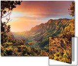 USA  Hawaii  Kauai  Kokee State Park  Kalalau Valley