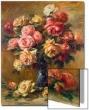 Roses in a Vase, C1910 Acrylique par Pierre-Auguste Renoir