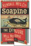 Poster Advertising Kendall Mfg Co's 'soapine'  C1890
