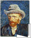 Self Portrait with Grey Felt Hat  c1887