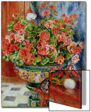 Geraniums and Cats, 1881 Acrylique par Pierre-Auguste Renoir